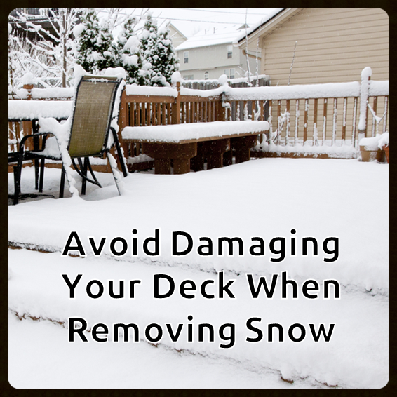 Safe Ice Melt For Wood Decks >> The Safe Way To Remove Snow And Ice From Your Deck The Fence
