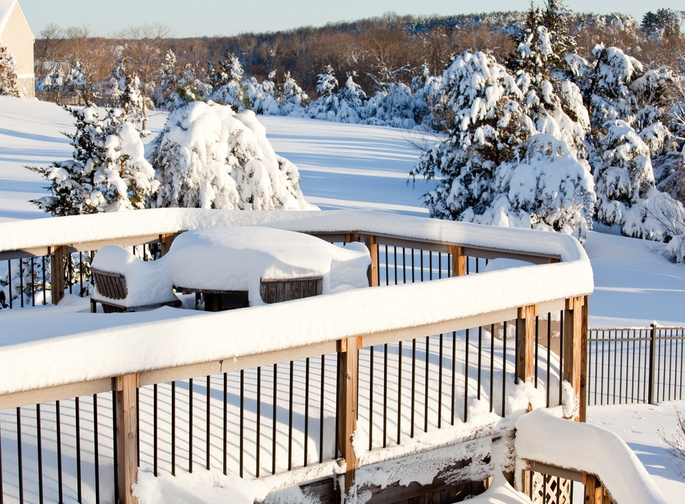 The safe way to remove snow and ice from your deck