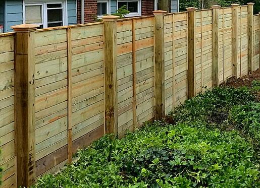 Modern Horizontal Fencing English Hurdle And Cedar Fences